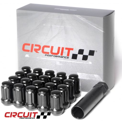Circuit Performance Forged Steel Spline Drive Lug Nut for Aftermarket Wheels: Black