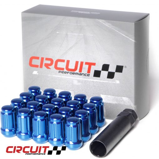 Circuit Performance Forged Steel Spline Drive Lug Nut for Aftermarket Wheels: Blue