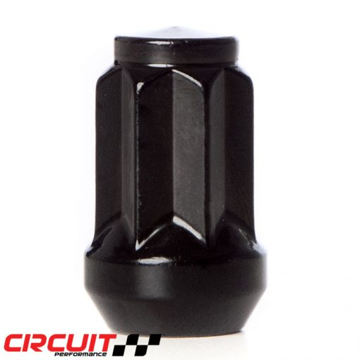 Circuit Performance Forged Steel Star Spline Drive Lug Nut for Aftermarket Wheels: Black
