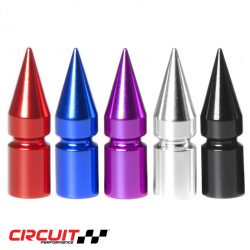 Red, Blue, Purple, Silver and Black VC6 Spiked Valve Stem Caps
