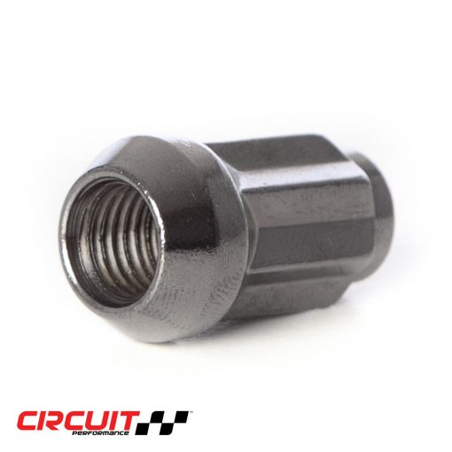 Circuit Performance Forged Steel Star Spline Drive Lug Nut for Aftermarket Wheels: Hyper Black
