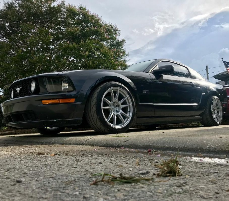 18 Quot Staggered Cp32 Wheels On 2008 Mustang Gt Circuit