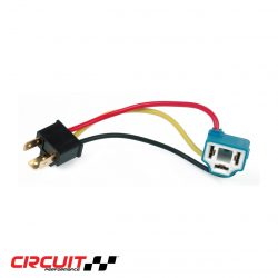 Closeup image of H4 (9003) Circuit Performance Ceramic Heavy Duty Plug-n-Play Headlight Harness