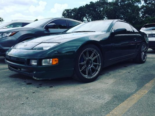1996 Nissan 300ZX Z32 with 18x9 Hyper Black CP32 Wheels